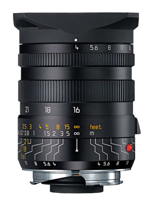 Leica 16-18-21mm f/4 Aspherical Wide Angle Tri-Elmar-M Lens with Universal Viewfinder -- Black, 6-bit USED