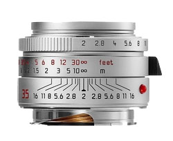 Leica 35mm f/2.0 Summicron M Aspherical Wide Angle Lens -- Silver Chrome, 6-Bit