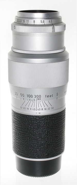Leica 135mm f/4.5 Hektor LTM Telephoto Lens -- Silver Chrome, USED