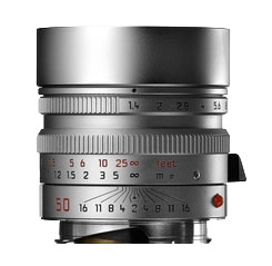 Leica 50mm f/1.4 Summilux M Aspherical Lens -- Silver Chrome, 6-Bit
