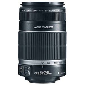 Canon EF-S 55-250mm f/4-5.6 IS Autofocus Lens for Select Digital SLR Cameras