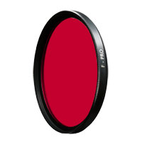 B+W 55 mm 091 Dark Red (029) Glass Filter