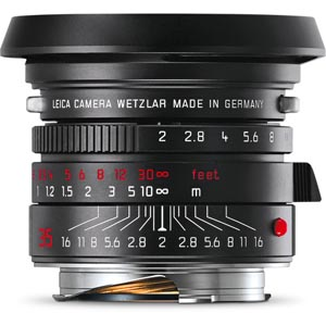Leica Summicron-M 35mm f/2 ASPH. Lens (Black-Chrome Edition)