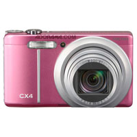 "Ricoh CX4 Digital Point & Shoot Camera, 10mp, 10.7x Optical Zoom, 3"" LCD Display, 5 FPS Shooting - Pink Finish - U.S.A. Warranty"