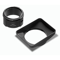 Ricoh GH-2 Hood for GR III Digital Camera Standard Lens, with Adapter for Attaching GW-2 and 43mm Filters