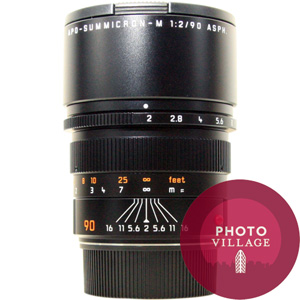 Leica 90mm f/2.0 APO ASPH Summicron M Lens -- Black, Certified Pre-owned