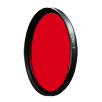 B+W 60mm 090 Light Red Glass Filter