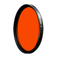 B+W 39mm 041 Red-Orange (22) Glass Filter