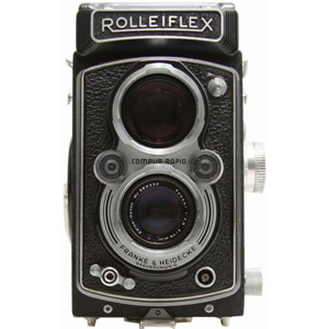 Rollei Rolleiflex 75mm f/3.5 Tessar T Lens Medium Format TLR Film Camera -- USED