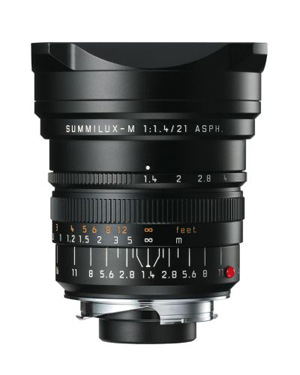 Leica 21mm f/1.4 Summilux ASPH M Lens -- Black, 6-bit