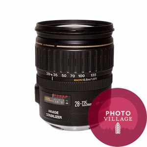 Canon EF 28-135mm f/3.5-5.6 IS USM Autofocus Lens -- USED
