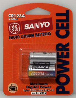 Battery CR123 -- 2-Pack