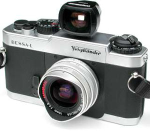 Voigtlander Bessa L with 15mm f/4.5 Super Wide Heliar Kit -- Silver Body and Lens
