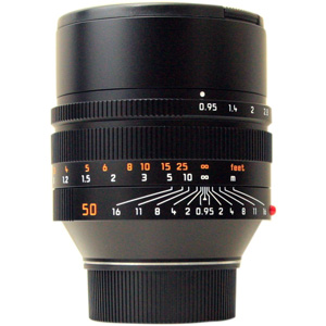 Leica 50mm f/0.95 Noctilux ASPH M Lens -- Black, Certified Pre-owned