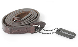 Black Label Bag Antique Italian Strap -- Dark Brown