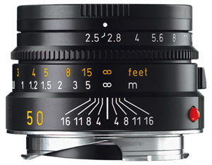 Leica 50mm f/2.5 Summarit-M Lens -- Black, 6-bit