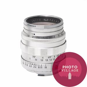 Leica 50mm f/1.4 Summilux M Lens -- Silver Chrome, USED