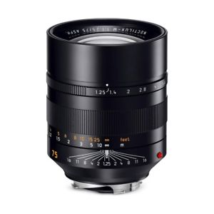 New!!!  Leica 75mm f/1.25 Noctilux M (new, USA warranty)